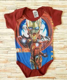 Body Ribana Infantil Masculino Personagens