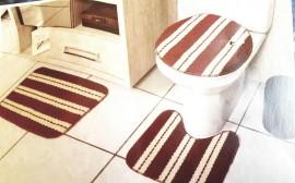 Jogo de Banheiro Latex com antiderrapante 3 peças
