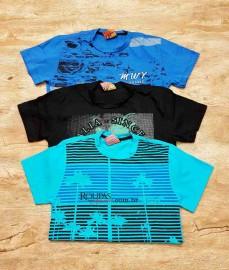 Camisa Algodão Infanto-Juvenil Estampada