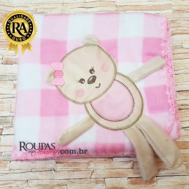 Cobertor De Bebe Recem Nascido Menina Luxo