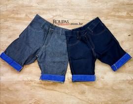 Bermuda Jeans Juvenil Masculina Basic