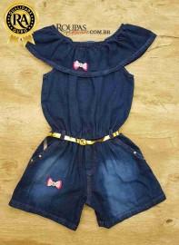 Macaquito Ciganinha jeans Infantil