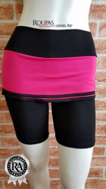 Short Fitness Cotton Com Saia M