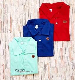 Camisa Infantil Gola Polo Lisa