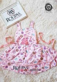Vestido Infantil Tricoline Estampado