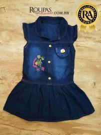 Vestido Jeans Infantil Vários Modelos P M e G