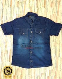 Camisa Social Jeans Infanto Juvenil 8 a 14 anos