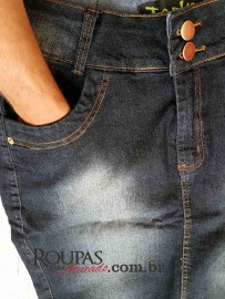 Saia Plus Size Jeans com Lycra Evangélica vários modelos